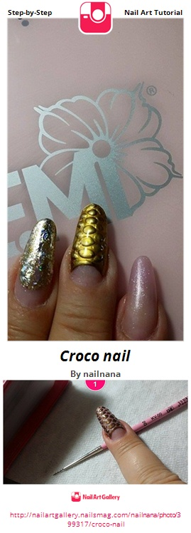 Croco nail - Nail Art Gallery