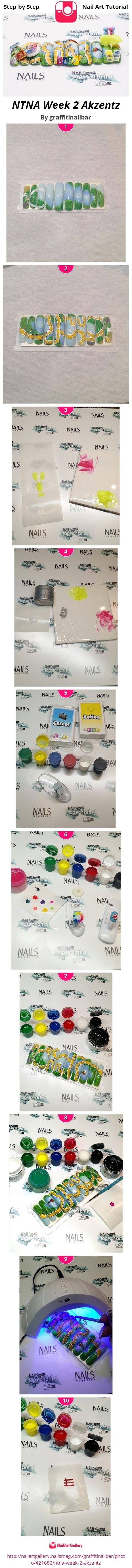 NTNA Week 2 Akzentz - Nail Art Gallery