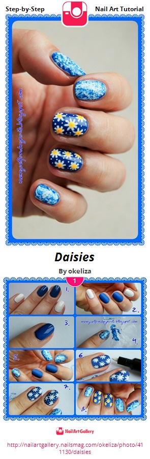 Daisies - Nail Art Gallery
