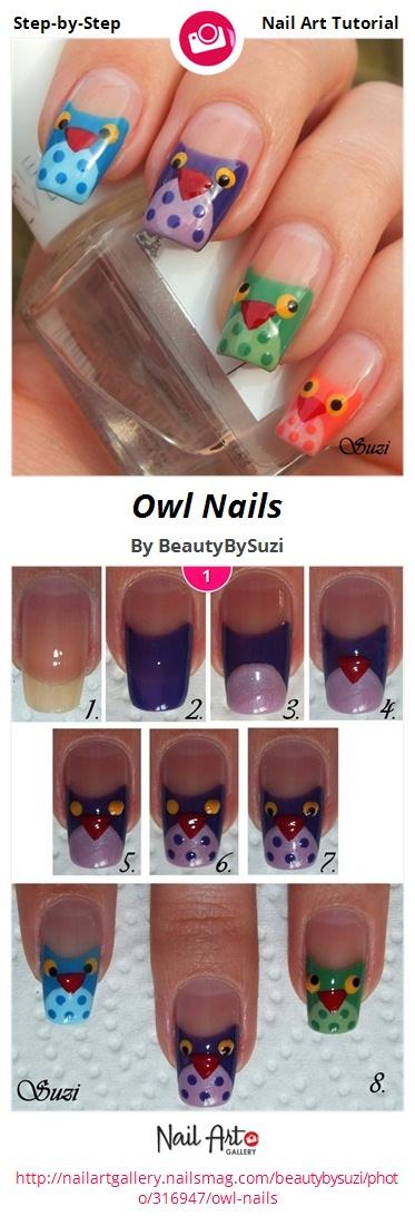 Owl Nails - Nail Art Gallery