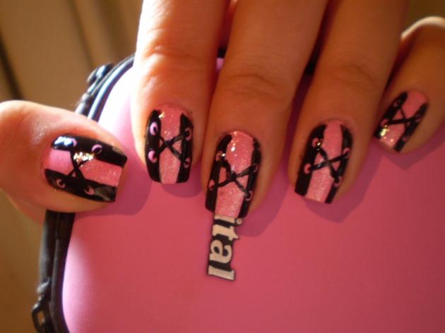Pink Corset Nail