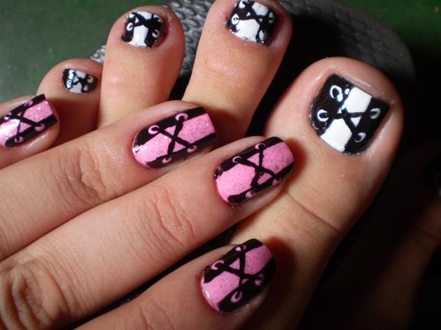 Corset nail hand and foot nail art gallery corset nail hand and foot prinsesfo Images