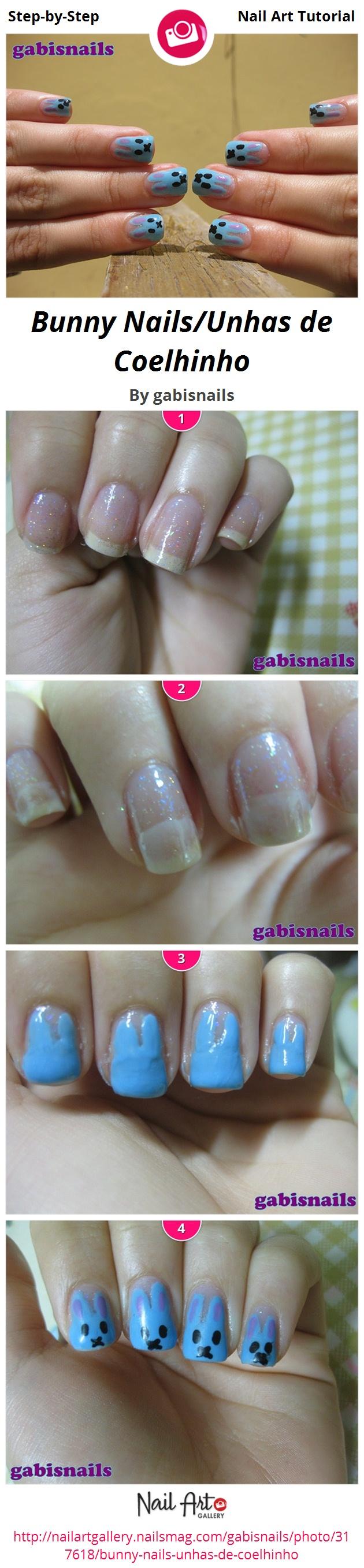 Bunny Nails/Unhas de Coelhinho - Nail Art Gallery
