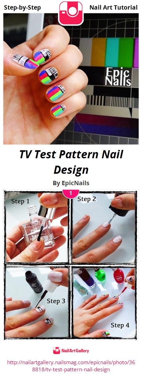 TV Test Pattern Nail Design - Nail Art Gallery
