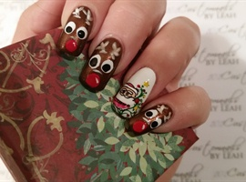 nail art: Santa