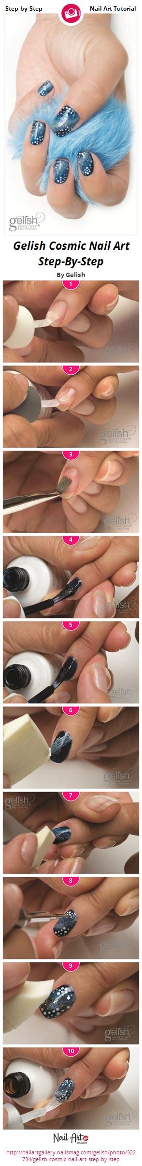 Gelish Cosmic Nail Art Step-By-Step - Nail Art Gallery