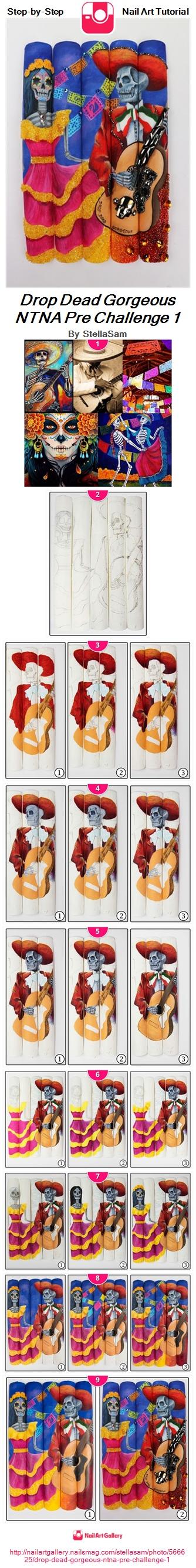 Drop Dead Gorgeous NTNA Pre Challenge 1 - Nail Art Gallery