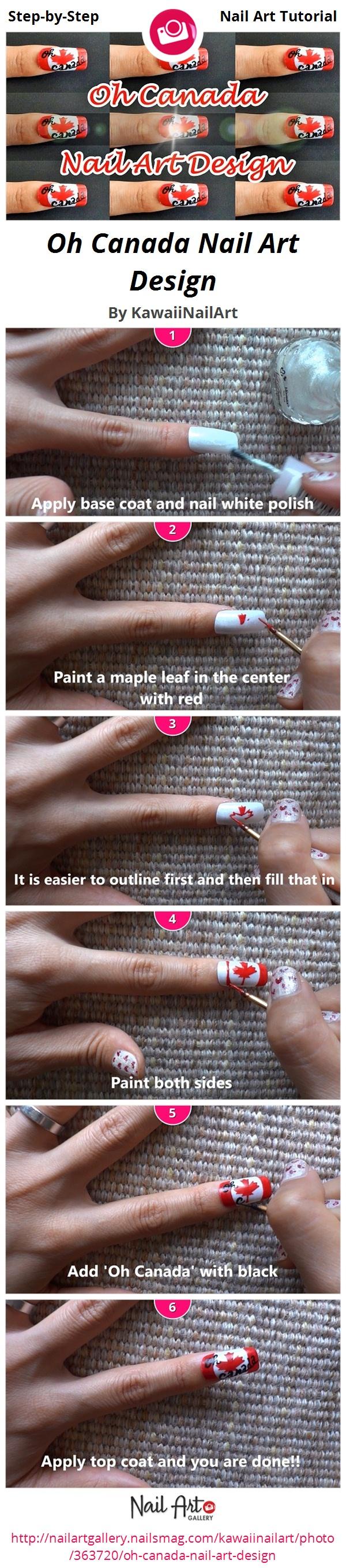 Oh Canada Nail Art Design  - Nail Art Gallery