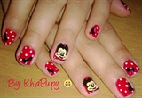 inspired micky and minnie nails