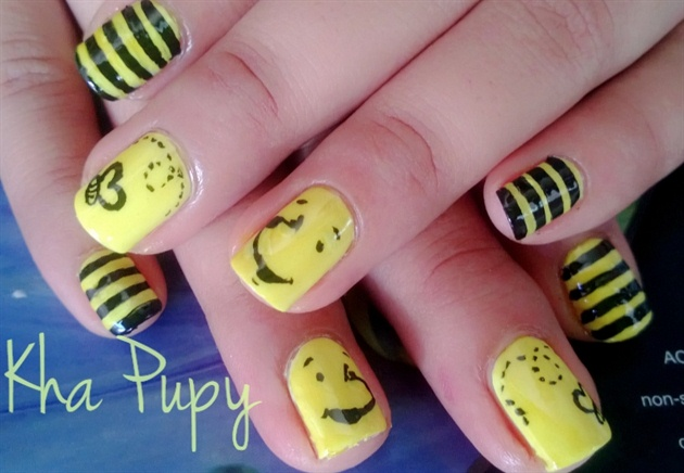 Yellow Winnie The Pooh Nail Art Gallery