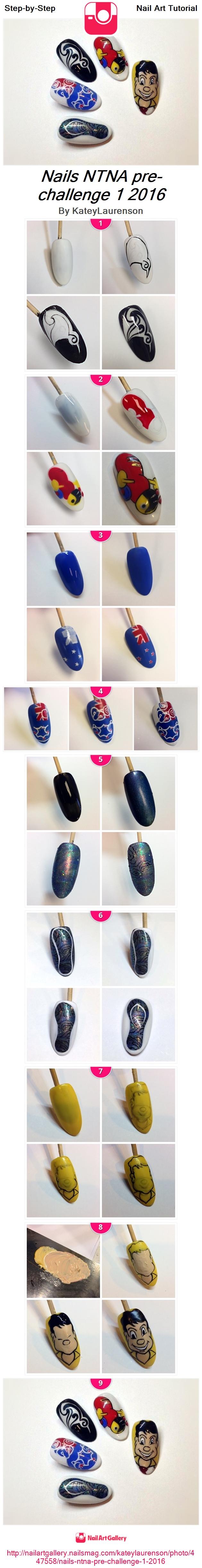 Nails NTNA pre-challenge 1 2016 - Nail Art Gallery