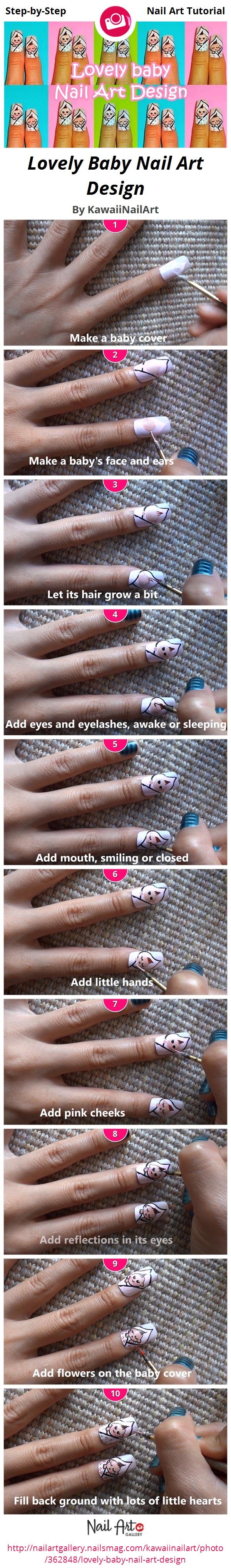 Lovely Baby Nail Art Design - Nail Art Gallery
