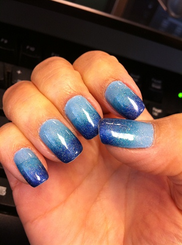 blue gradient  nail art gallery