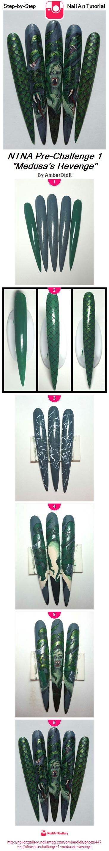 """NTNA Pre-Challenge 1 """"Medusa's Revenge"""" - Nail Art Gallery"""