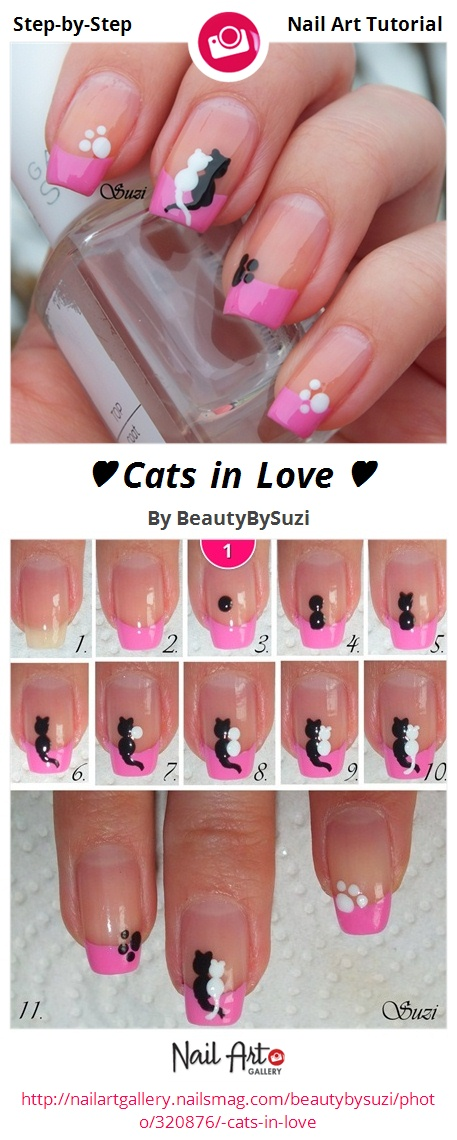 ♥ Cats in Love ♥ - Nail Art Gallery