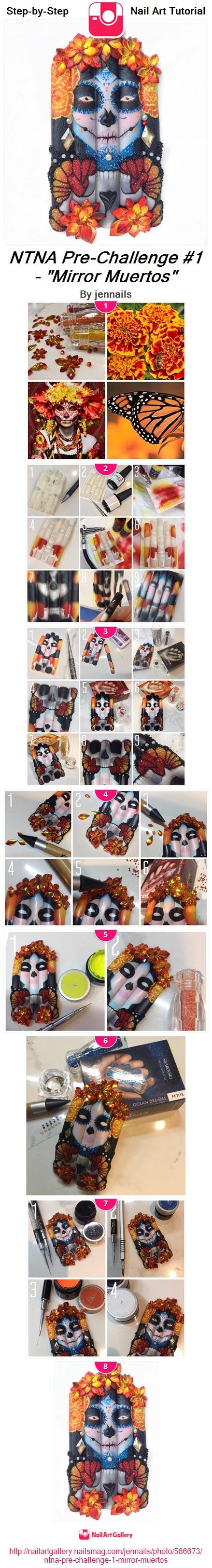 "NTNA Pre-Challenge #1 - ""Mirror Muertos"" - Nail Art Gallery"