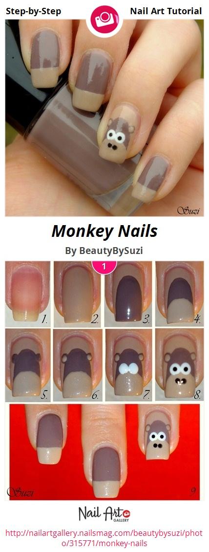 Monkey Nails - Nail Art Gallery