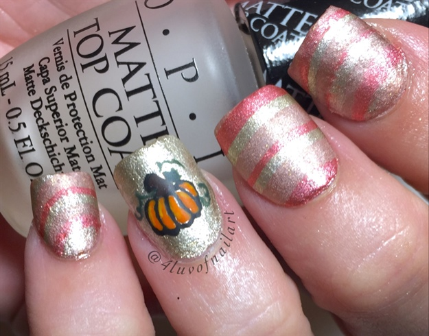 Matte Watermarble Stripe Pumpkin