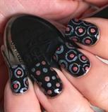 Circle Holo Nails