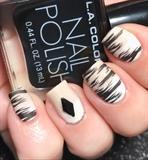 White & Tan Ombré With Black Stripes