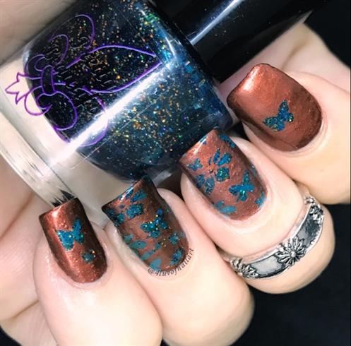 Negative Stamped Butterflies