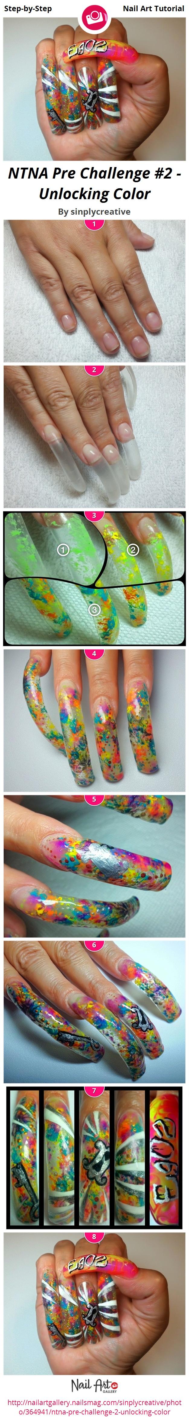 NTNA Pre Challenge #2 - Unlocking Color - Nail Art Gallery