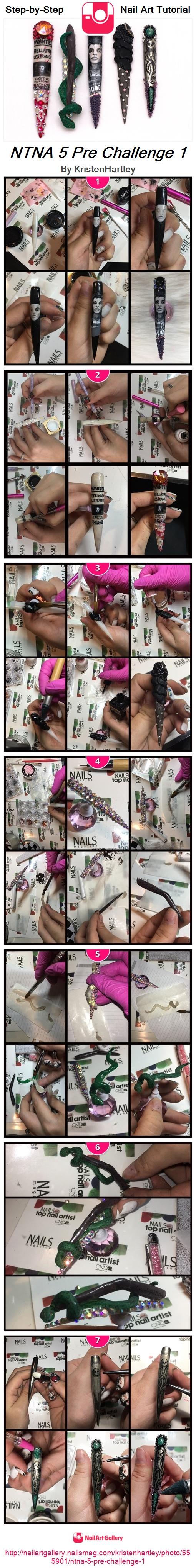 NTNA 5 Pre Challenge 1 - Nail Art Gallery
