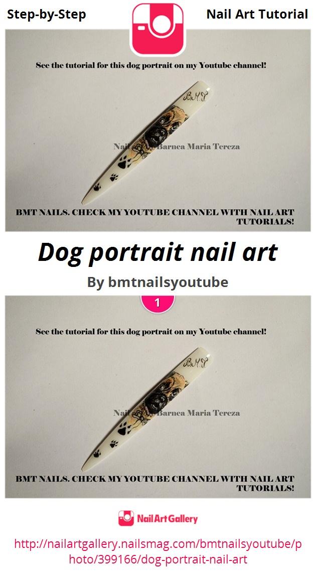 Dog portrait nail art - Nail Art Gallery