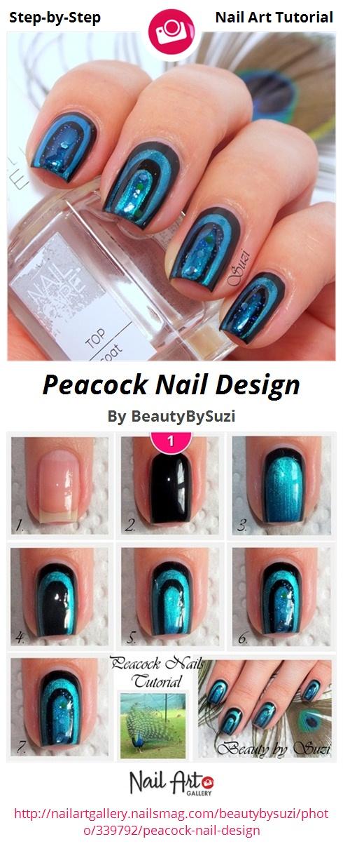 Peacock Nail Design - Nail Art Gallery