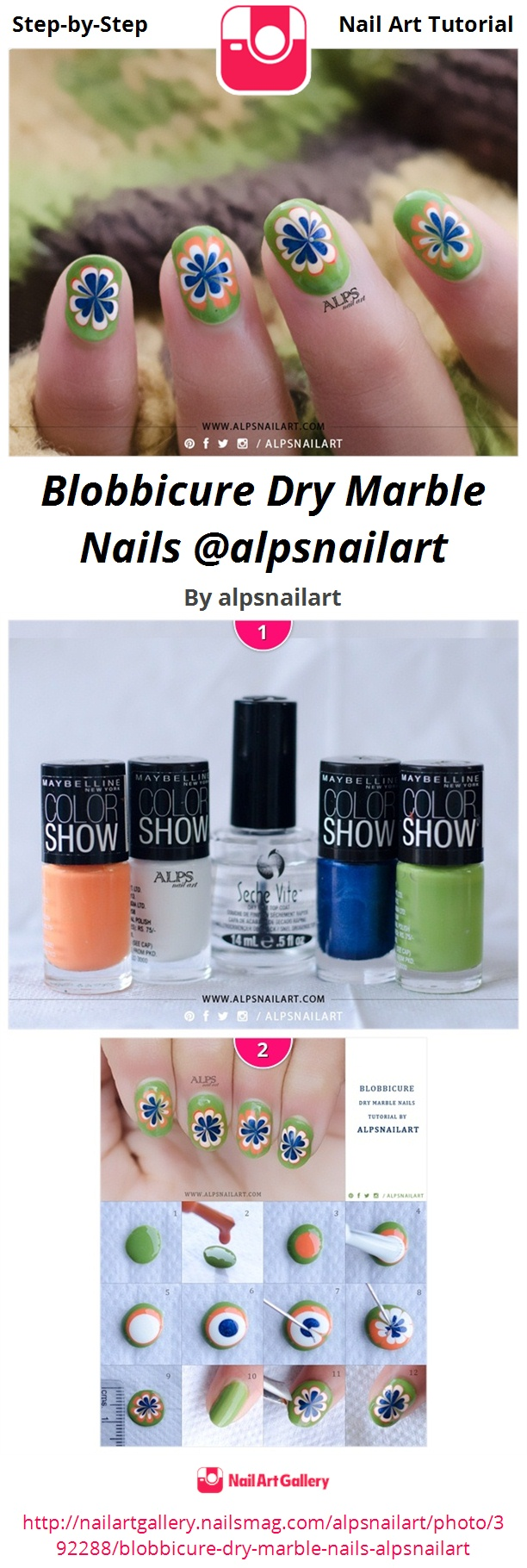 Blobbicure Dry Marble Nails @alpsnailart - Nail Art Gallery Step-by ...