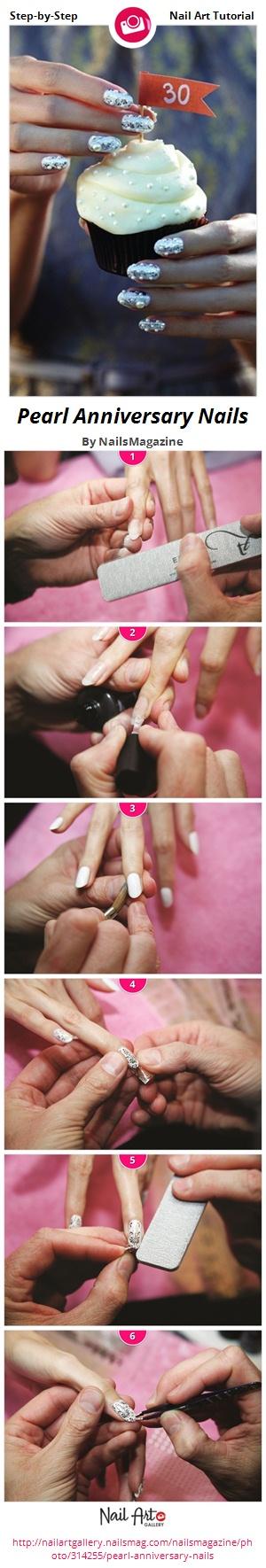 Pearl Anniversary Nails - Nail Art Gallery