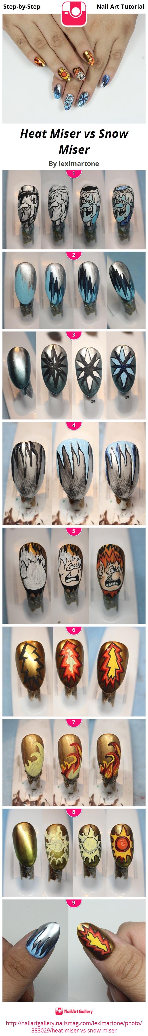 Heat Miser vs Snow Miser - Nail Art Gallery