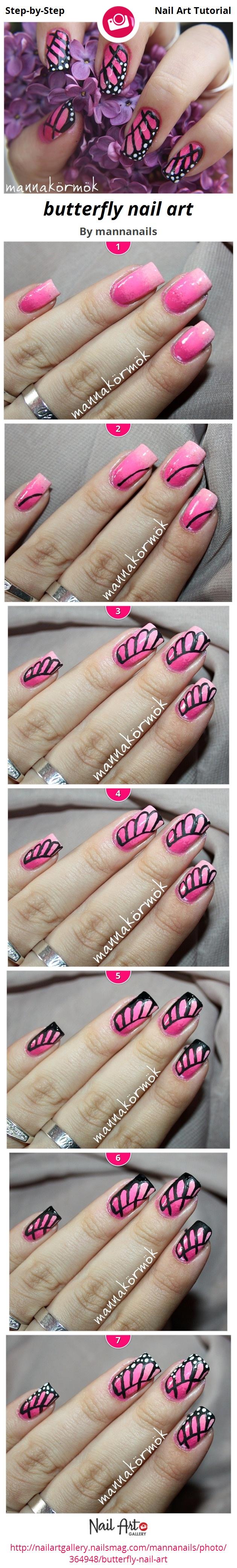 butterfly nail art - Nail Art Gallery