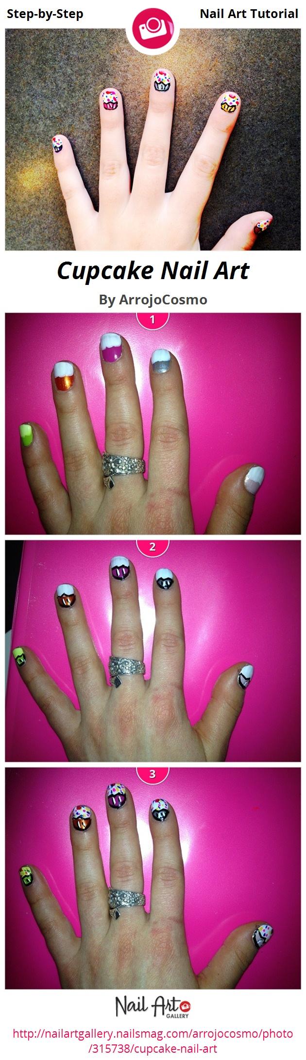 Cupcake Nail Art - Nail Art Gallery