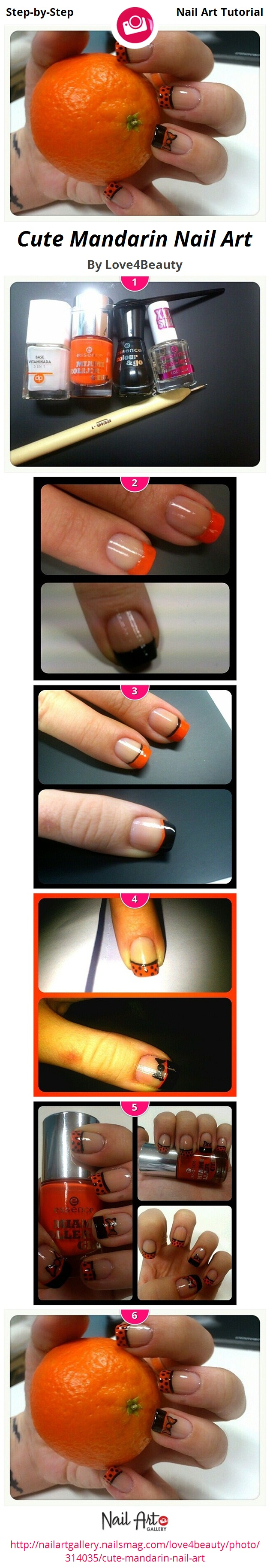 Cute Mandarin Nail Art - Nail Art Gallery