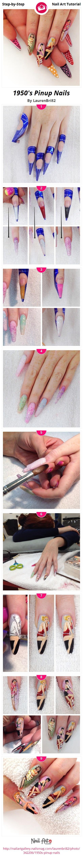1950's Pinup Nails - Nail Art Gallery