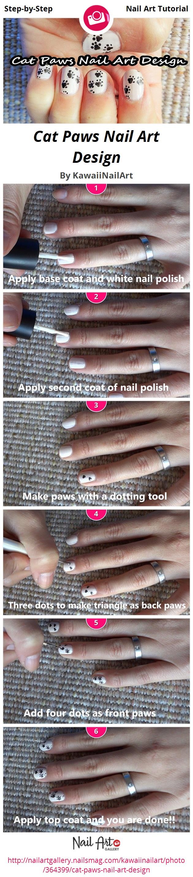 Cat Paws Nail Art Design - Nail Art Gallery