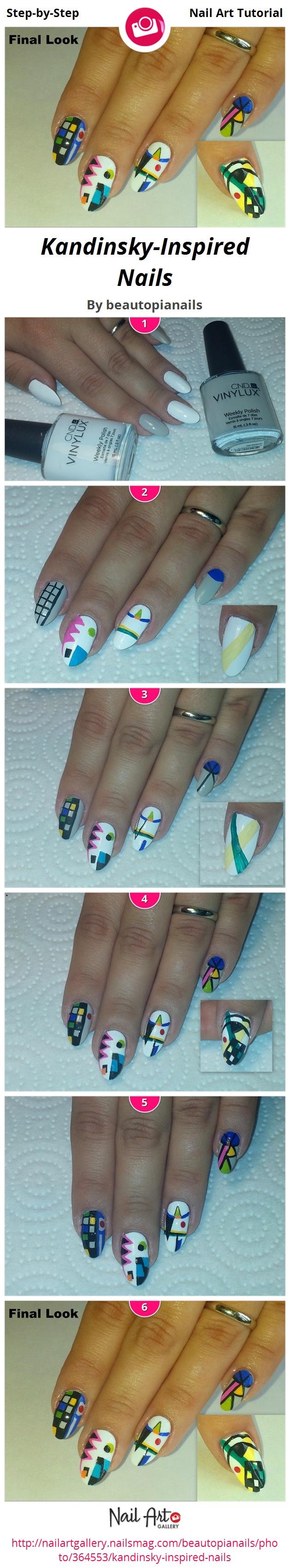 Kandinsky-Inspired Nails - Nail Art Gallery