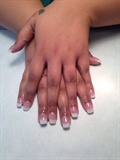 Pink And White Sculpted Acrylics