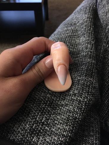 Ombré Acrylic Nail Clear Polish