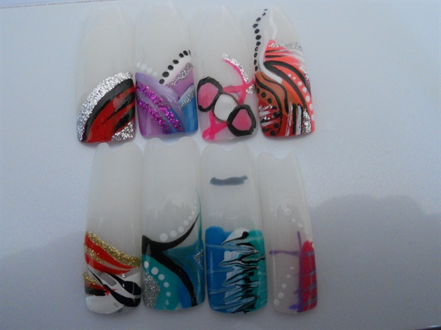 Individual Nail Art on Tips