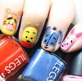 Winnie The Poo Nails