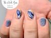 Blue Marble Gel Mani