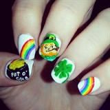 Leprechaun with his pot ó gold =P
