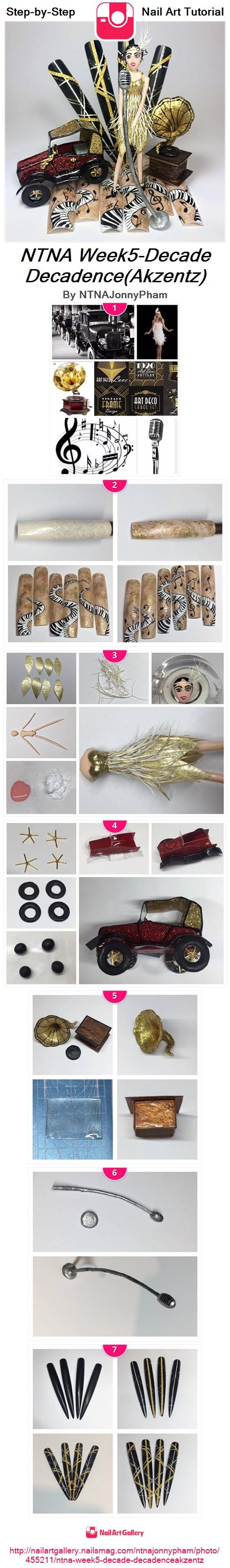 NTNA Week5-Decade Decadence(Akzentz) - Nail Art Gallery