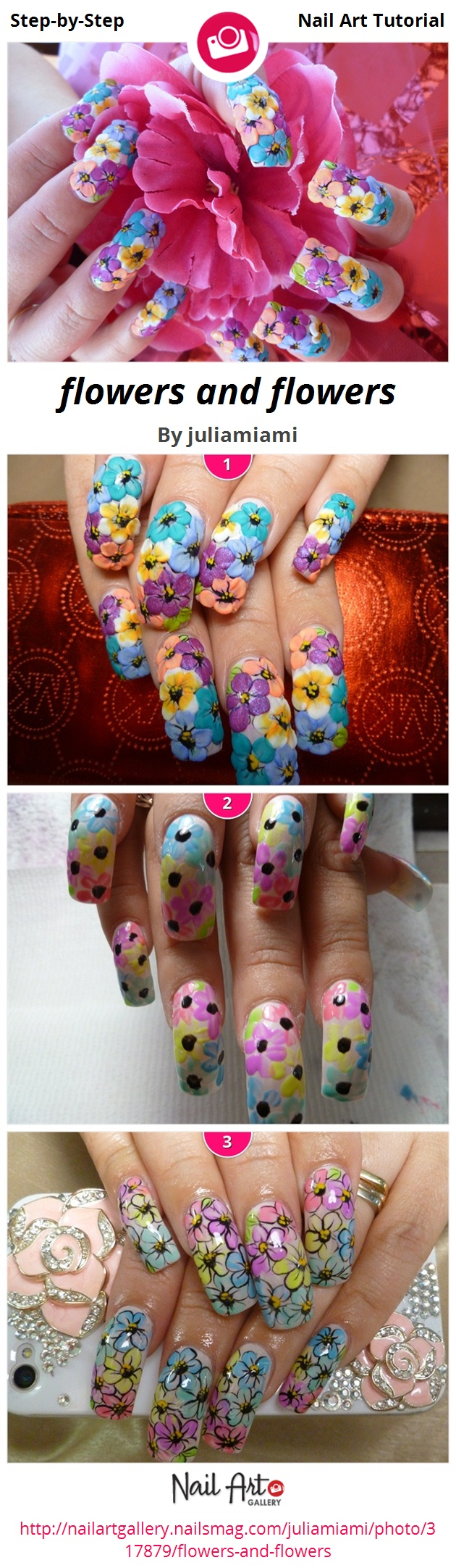 flowers and flowers - Nail Art Gallery