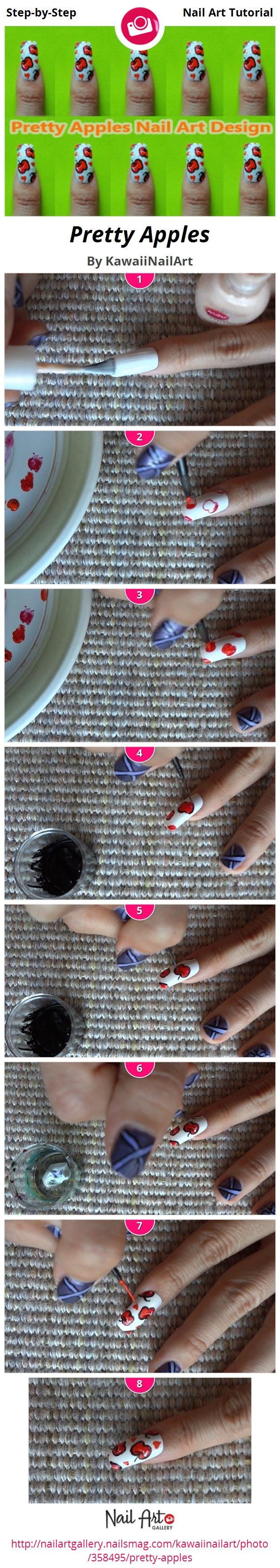 Pretty Apples Nail Art Design - Nail Art Gallery