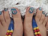 blue toe............