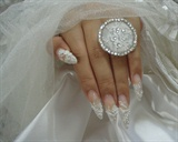 wedding nail art.................