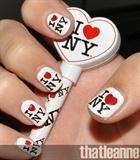 I Love NY, nails, manicure